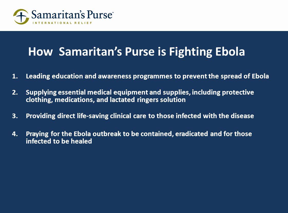 How Samaritan's Purse is Fighting Ebola