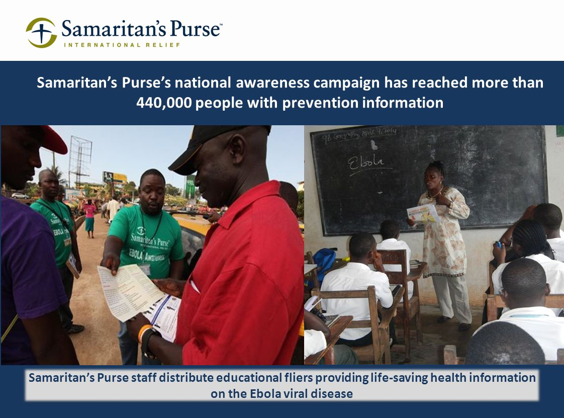 Samaritan's Purse's national awareness campaign has reached more than 440,000 people with prevention information