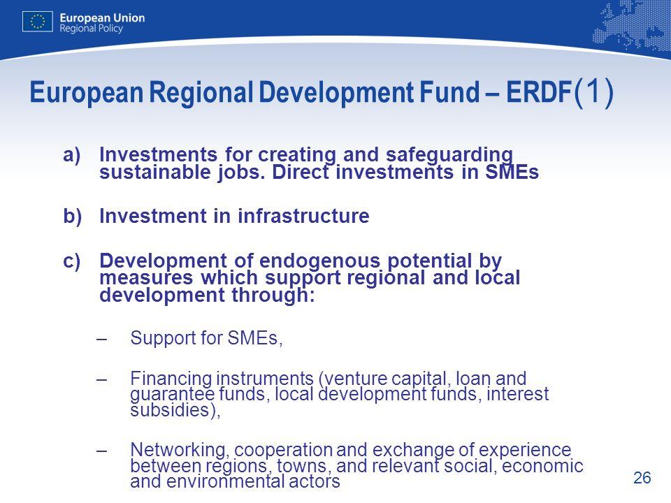 European Regional Development Fund – ERDF(1)