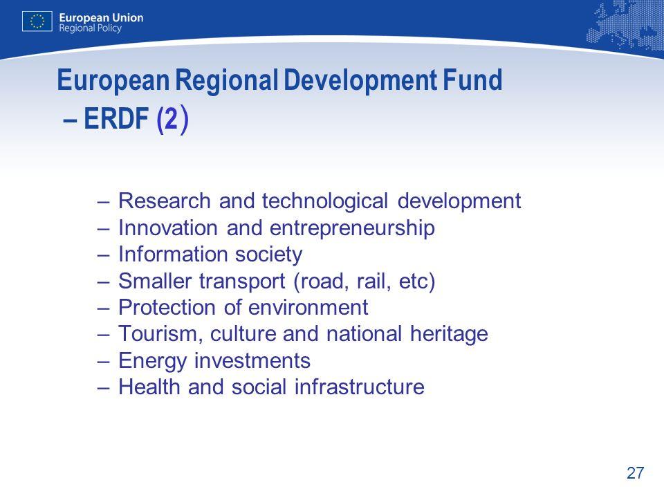 European Regional Development Fund – ERDF (2)