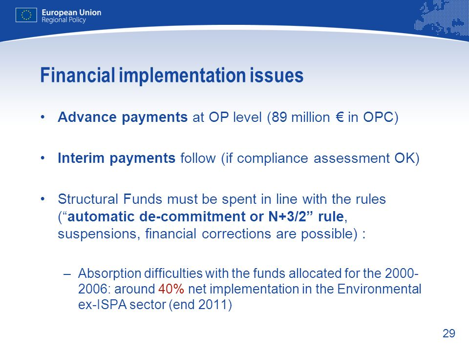 Financial implementation issues