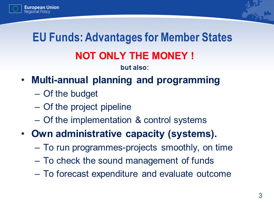 EU Funds: Advantages for Member States