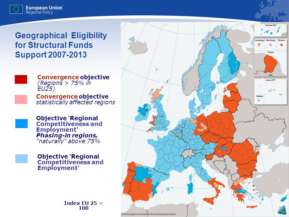 Geographical Eligibility for Structural Funds Support 2007-2013