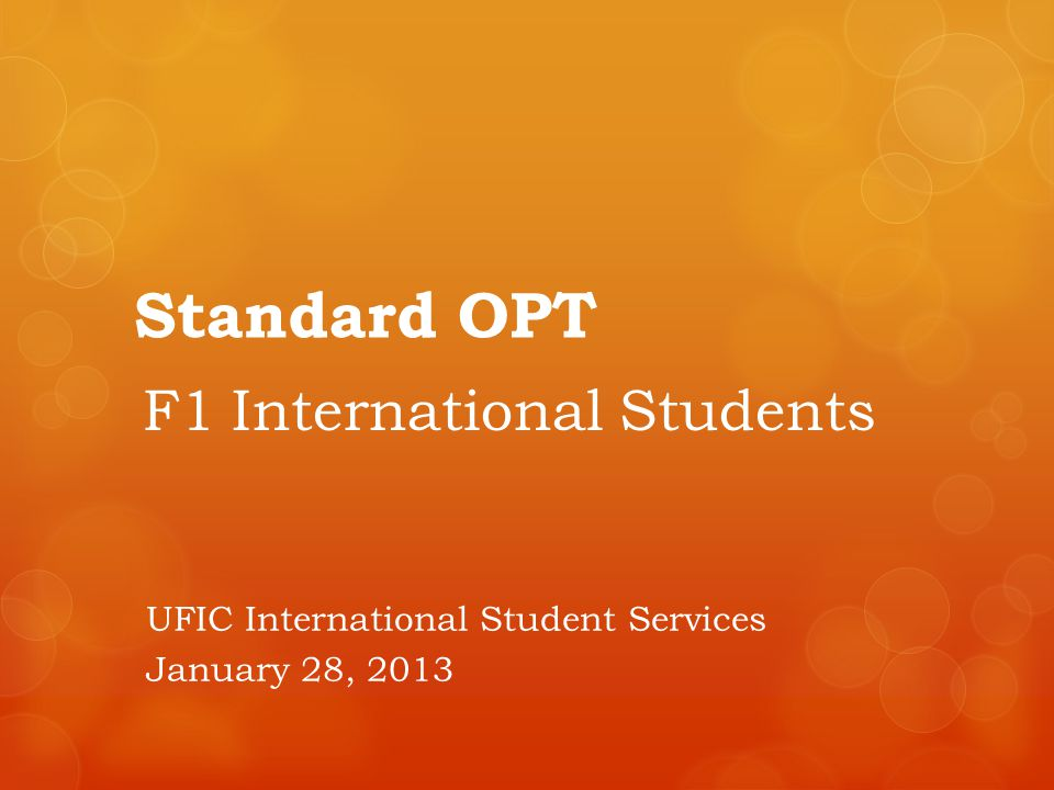F1 International Students