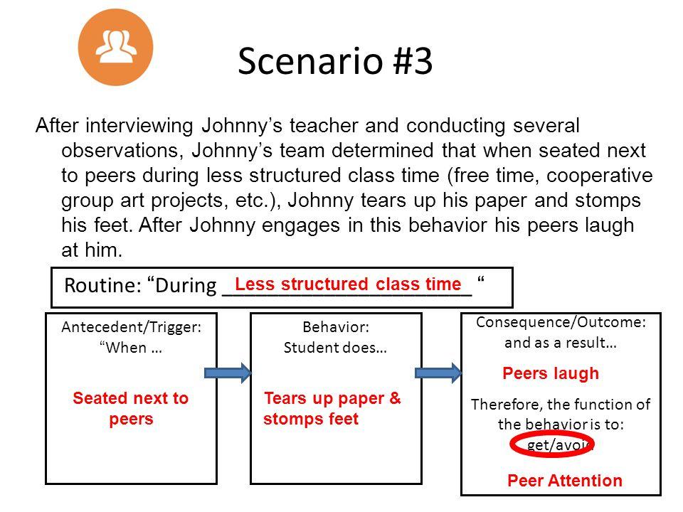 Scenario #3 Routine: During ______________________