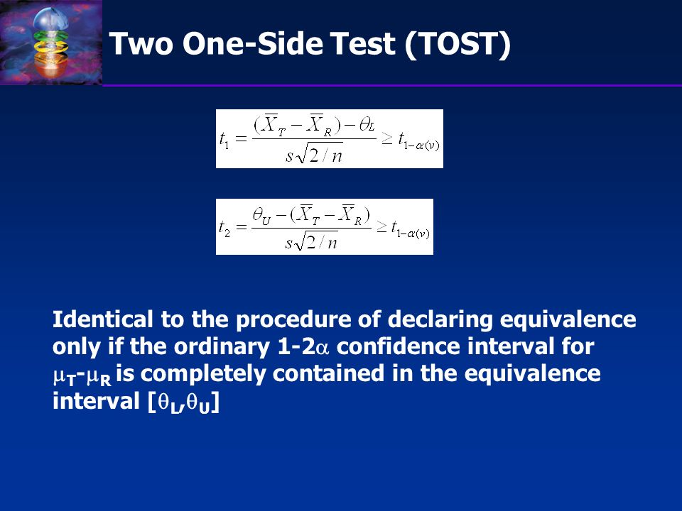 Two One-Side Test (TOST)