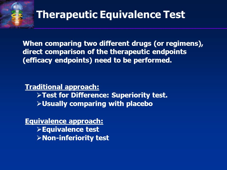 Therapeutic Equivalence Test