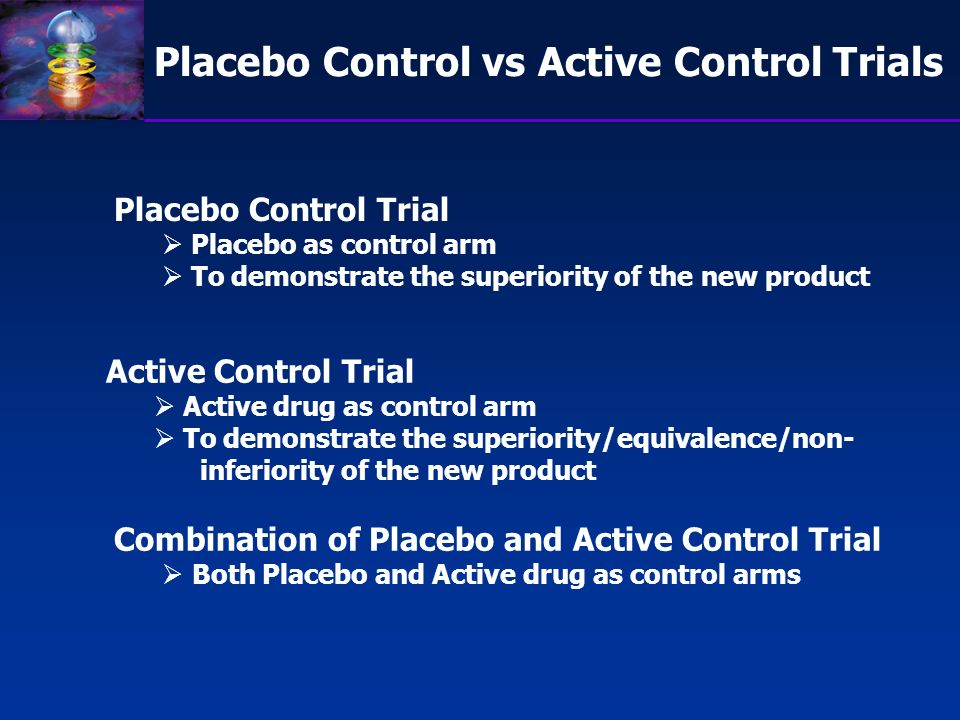 Placebo Control vs Active Control Trials