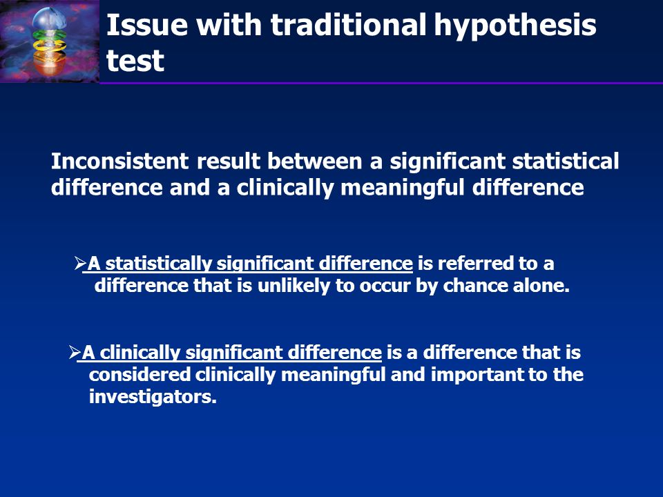 Issue with traditional hypothesis test