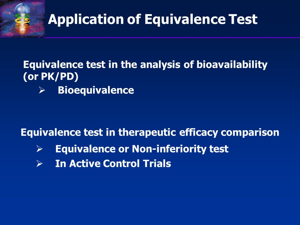 Application of Equivalence Test