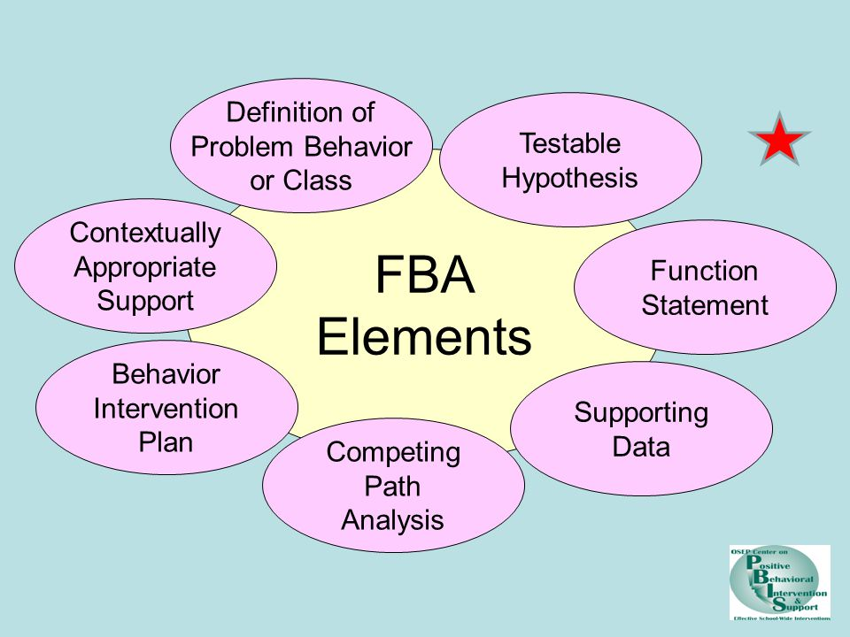 FBA Elements Definition of Problem Behavior Testable or Class