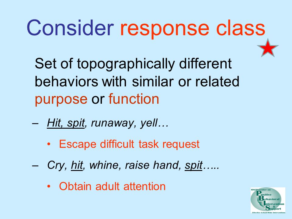 Consider response class
