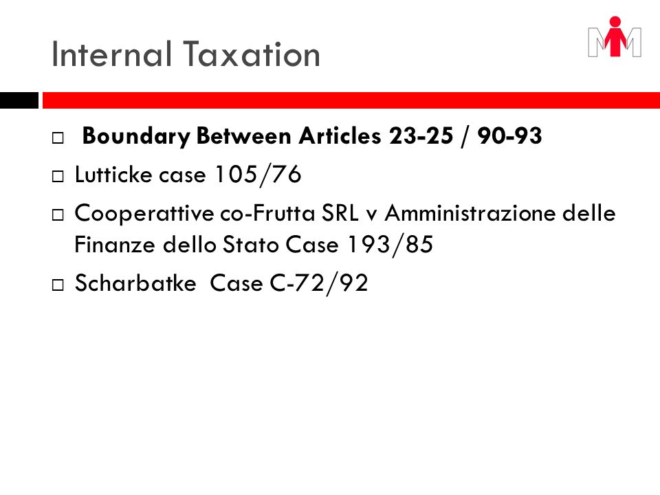 Internal Taxation Boundary Between Articles 23-25 / 90-93