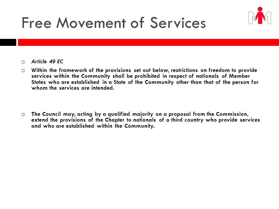 Free Movement of Services