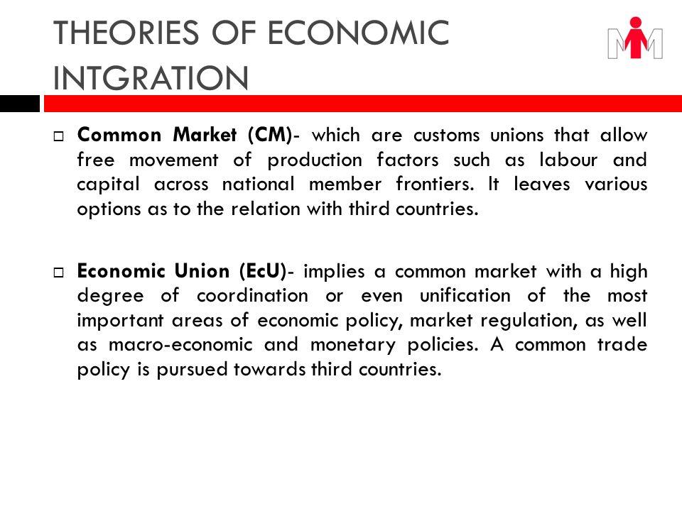 THEORIES OF ECONOMIC INTGRATION