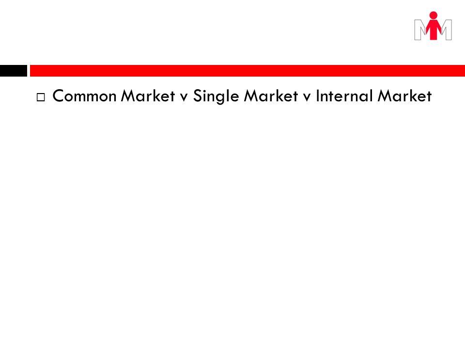 Common Market v Single Market v Internal Market