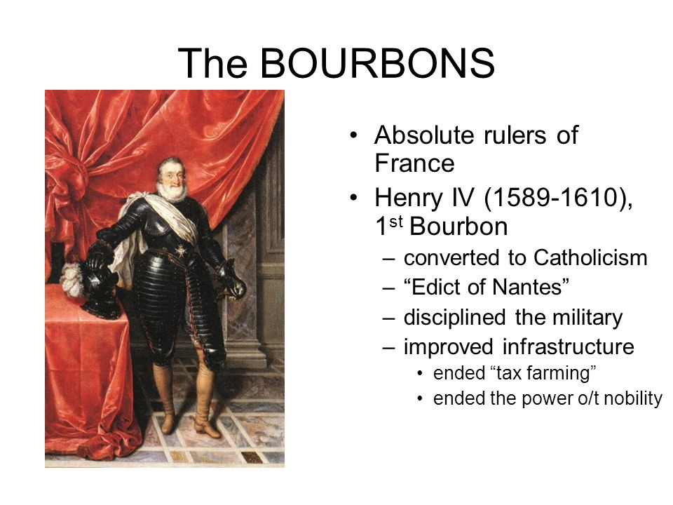 The BOURBONS Absolute rulers of France