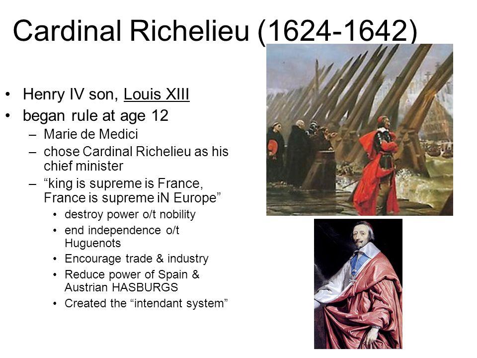 Cardinal Richelieu (1624-1642)