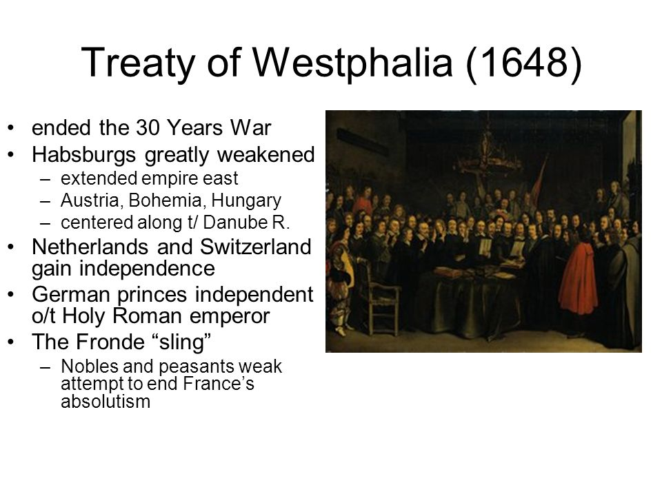 Treaty of Westphalia (1648)