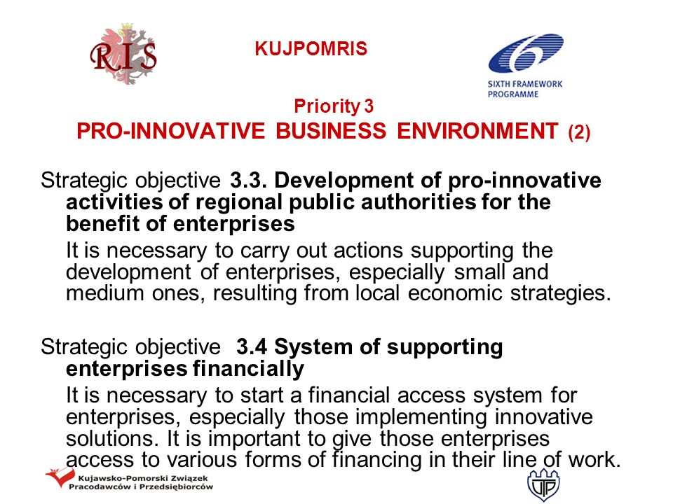 PRO-INNOVATIVE BUSINESS ENVIRONMENT (2)