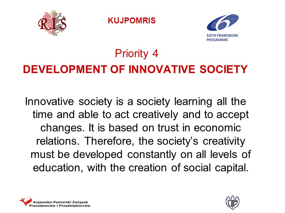DEVELOPMENT OF INNOVATIVE SOCIETY