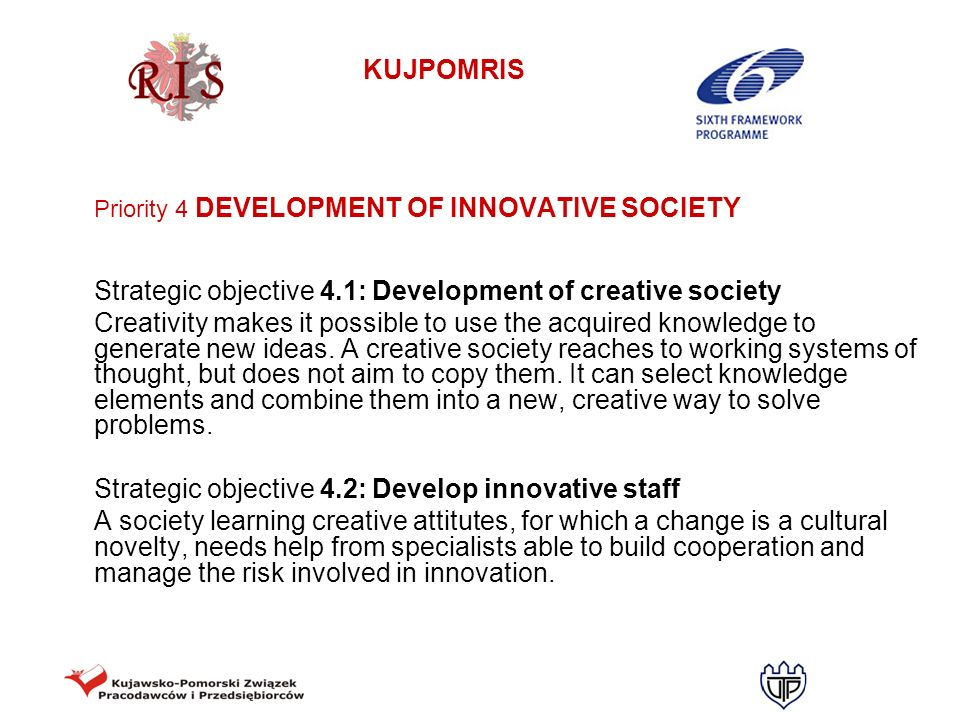 Strategic objective 4.2: Develop innovative staff