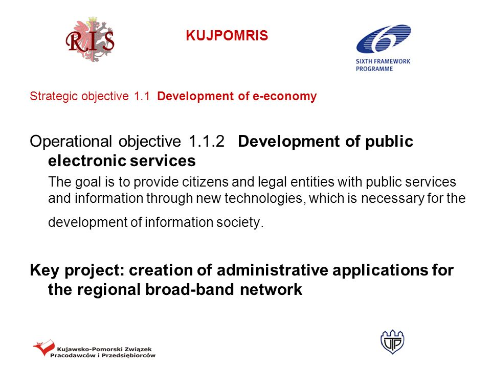 Operational objective 1.1.2 Development of public electronic services