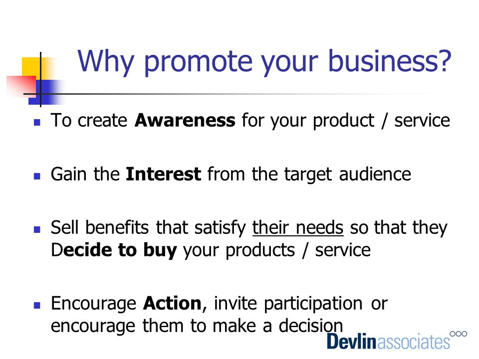 Why promote your business