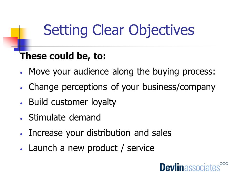 Setting Clear Objectives