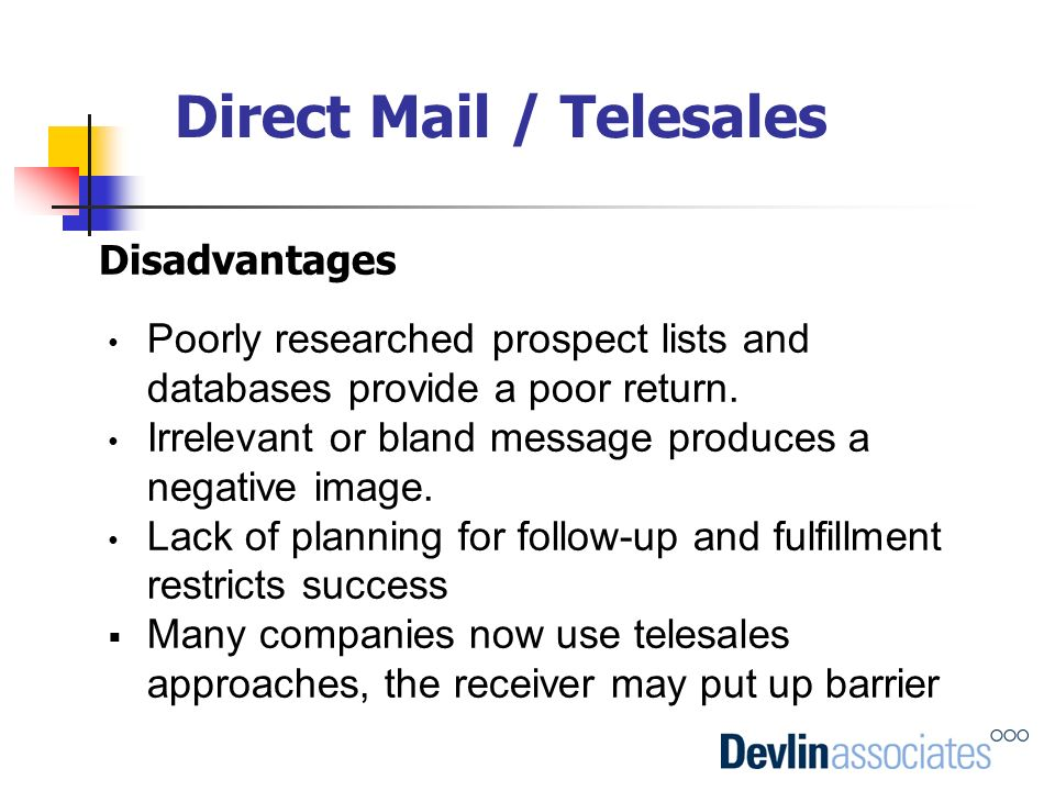 Direct Mail / Telesales