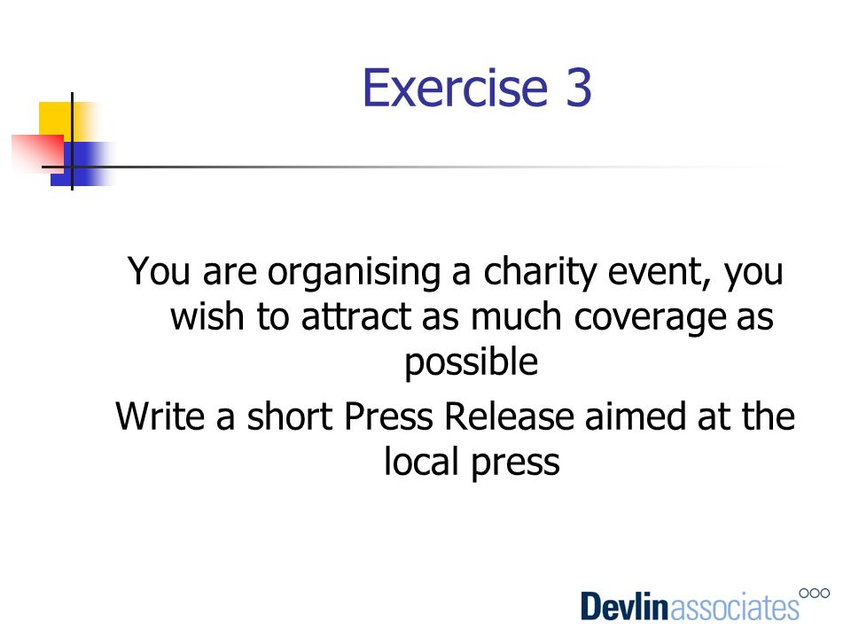 Write a short Press Release aimed at the local press