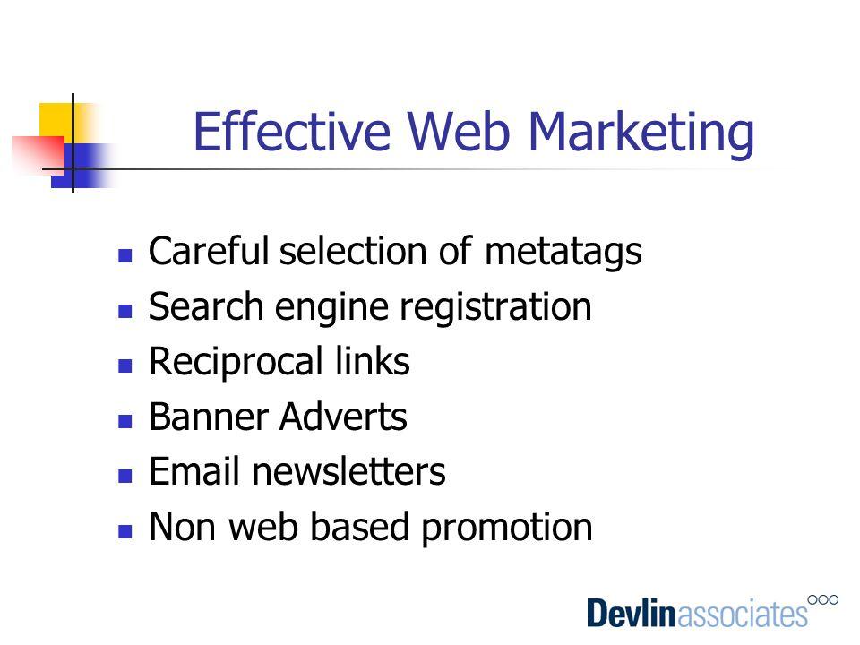 Effective Web Marketing
