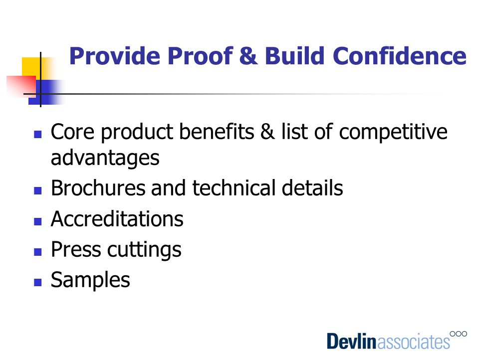 Provide Proof & Build Confidence