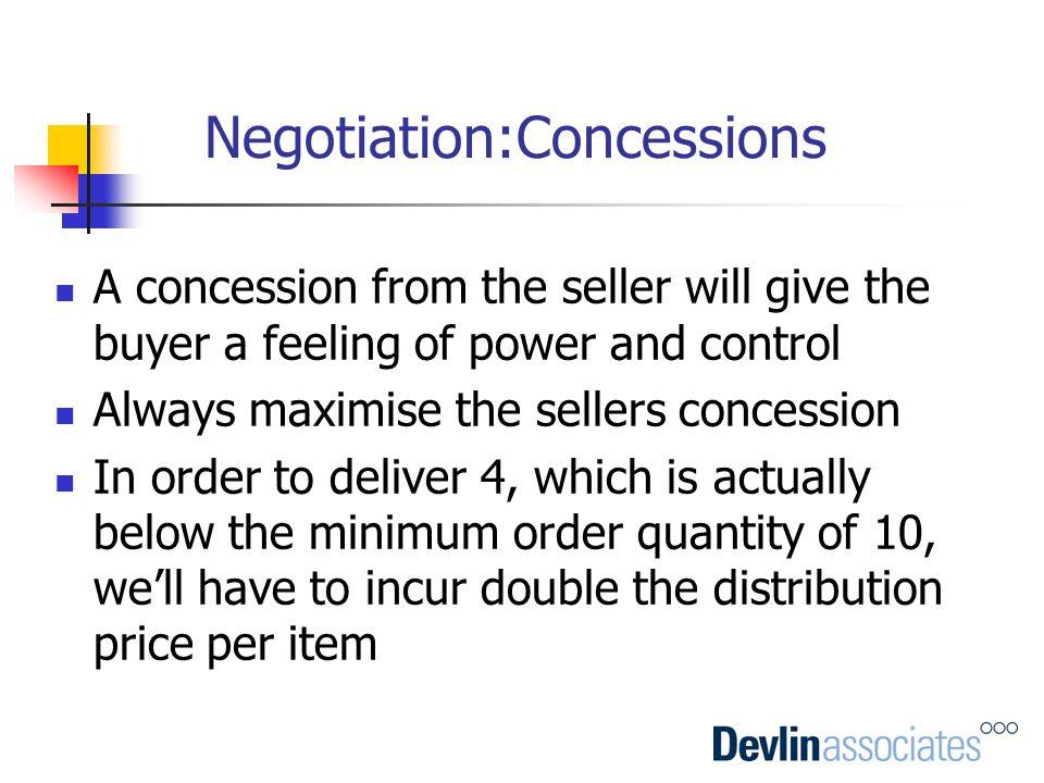 Negotiation:Concessions