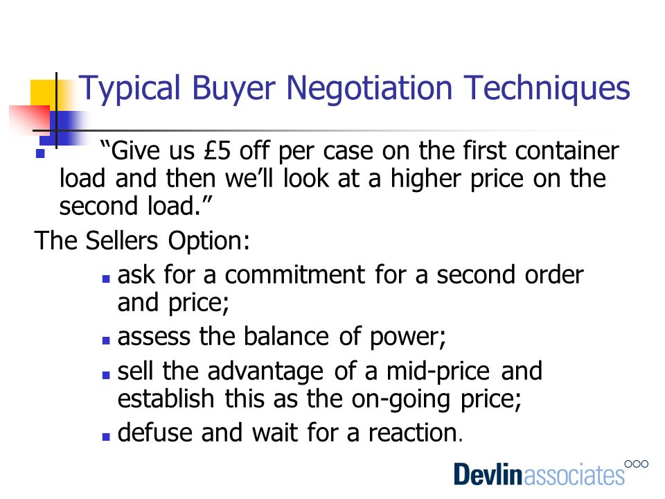 Typical Buyer Negotiation Techniques