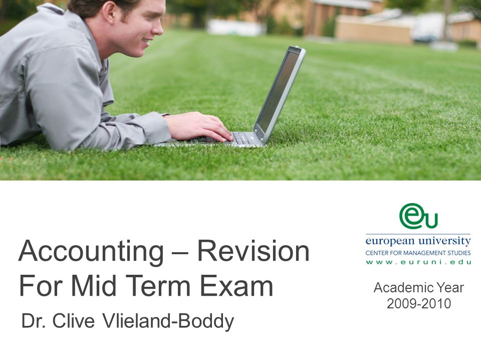 Accounting – Revision For Mid Term Exam