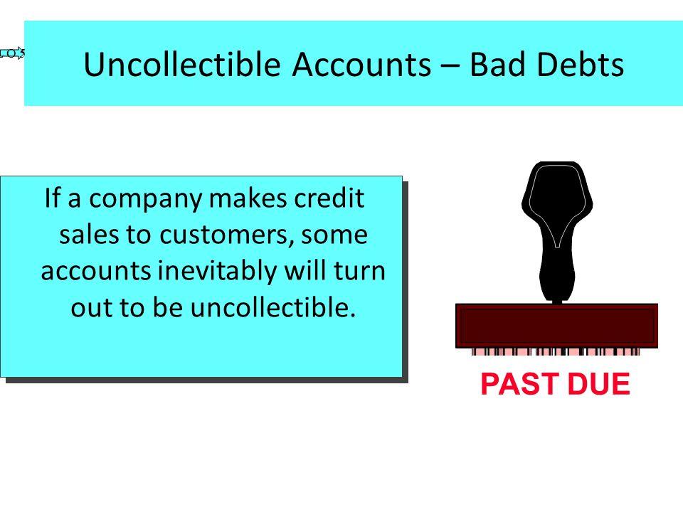 Uncollectible Accounts – Bad Debts