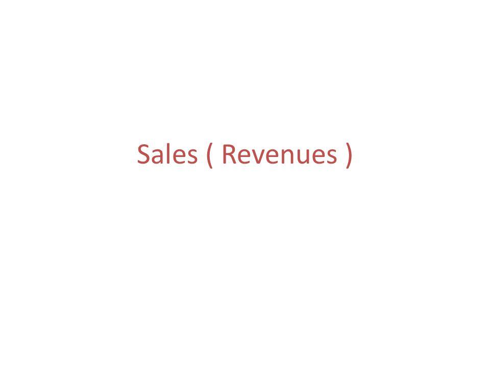 Sales ( Revenues )