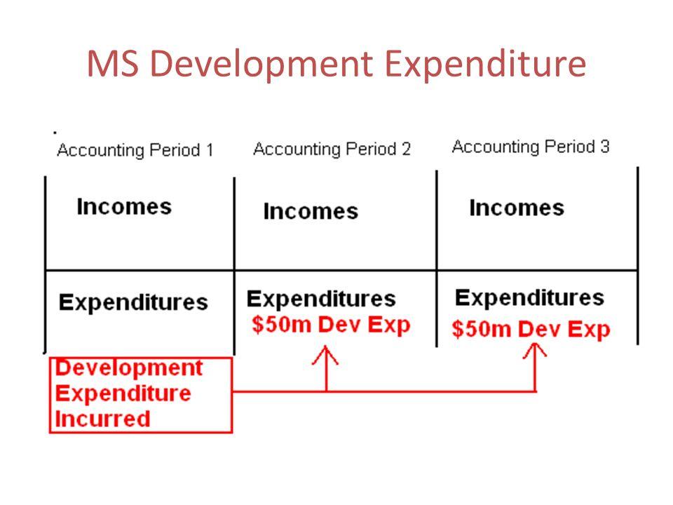 MS Development Expenditure