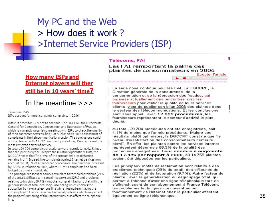 My PC and the Web > How does it work