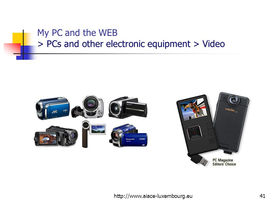 My PC and the WEB > PCs and other electronic equipment > Video