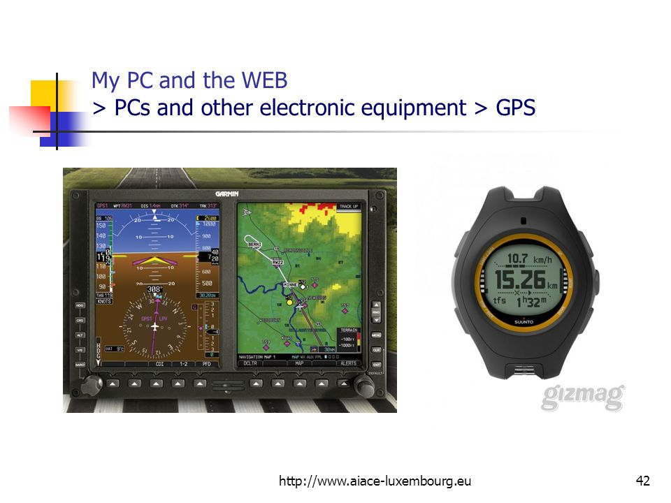 My PC and the WEB > PCs and other electronic equipment > GPS