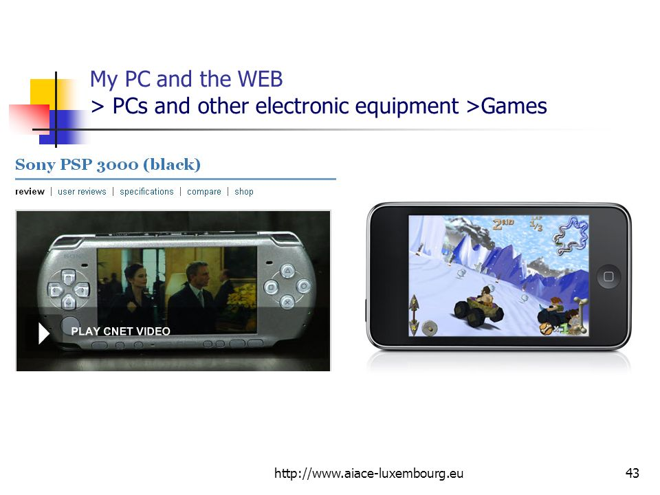 My PC and the WEB > PCs and other electronic equipment >Games
