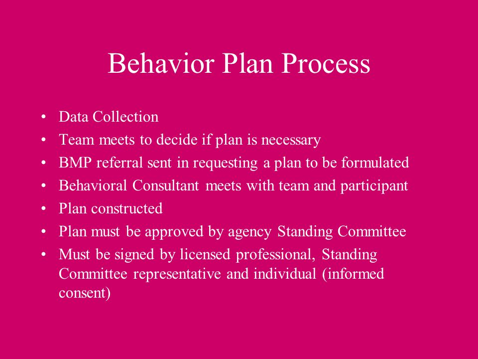 Behavior Plan Process Data Collection