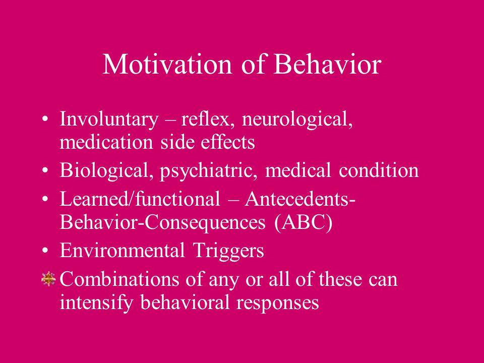 Motivation of Behavior