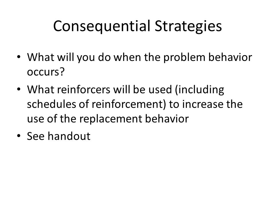 Consequential Strategies