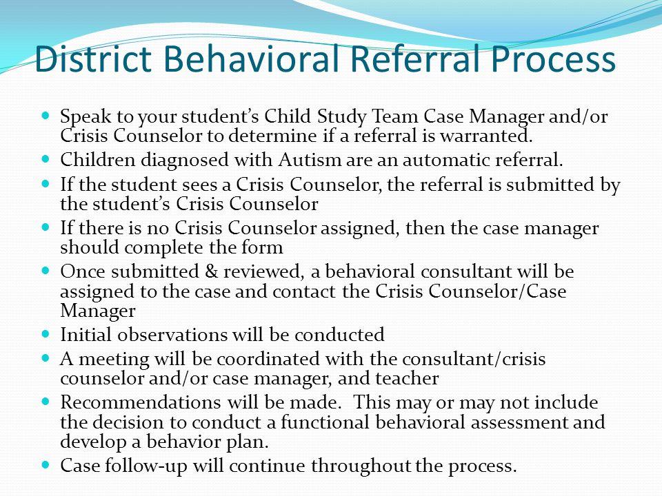 District Behavioral Referral Process
