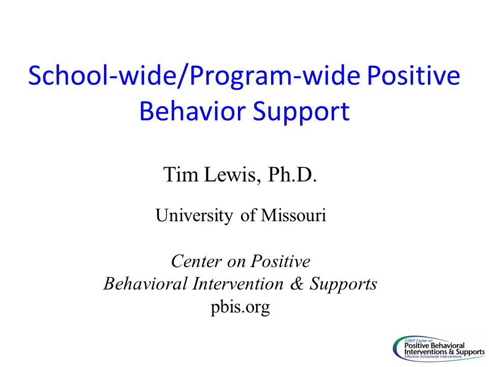 School-wide/Program-wide Positive Behavior Support