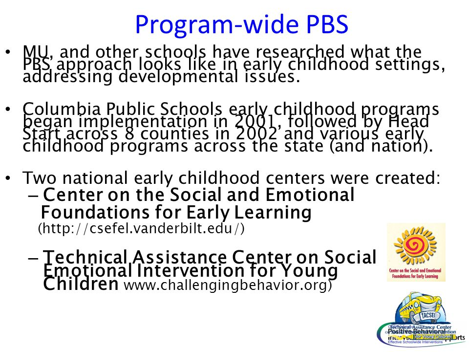 Program-wide PBS Center on the Social and Emotional