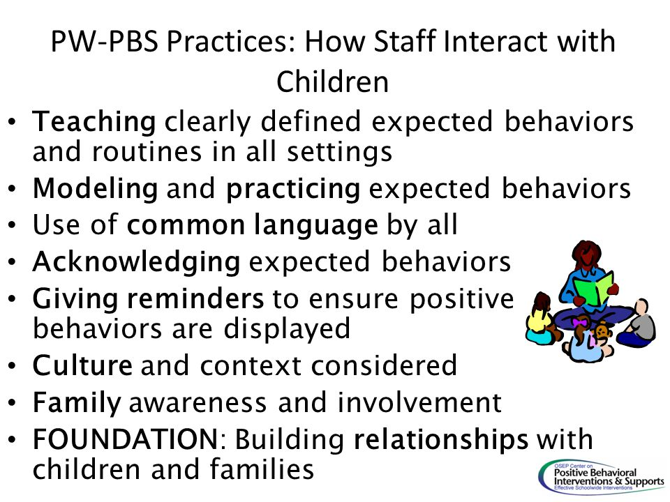PW-PBS Practices: How Staff Interact with Children